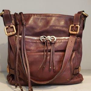 Chloe...dark brown leather shoulder bag